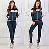Женский трикотажный спортивный костюм: кофта бомбер и штаны, фото 5