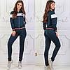 Женский трикотажный спортивный костюм: кофта бомбер и штаны, фото 6