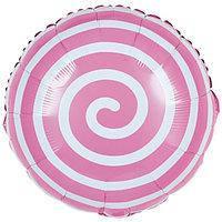 Фольга 45 см Спираль розовая