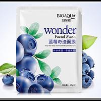Тканевая маска для лица BioAqua Wonder Facial Maskс экстрактом черники 30g, фото 1