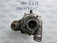 Турбина VAG 1.6TDI 068145703c