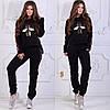 Женский зимний трикотажный спортивный костюм с аппликацией из пайетки, фото 4