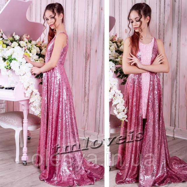 Нарядное подростковое платье Oscar для девочек Размеры 140- 170