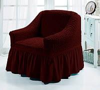 Чехол для мебели (кресло) вишневый (40)