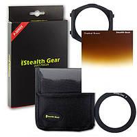 Светофильтр Stealth Gear 55 mm градиентный SGPSTKITBR55 под держатель Cokin коричневый