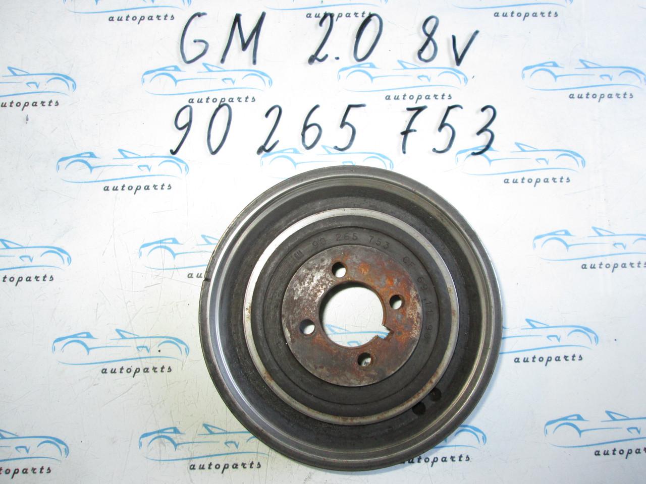 Шкив коленвала Opel 2.0 8V, 90265753