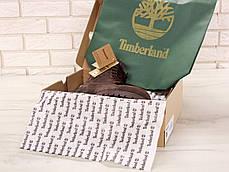 Зимние ботинки Timberland olive dark, мужские ботинки с искусственным мехом. ТОП Реплика ААА класса., фото 3