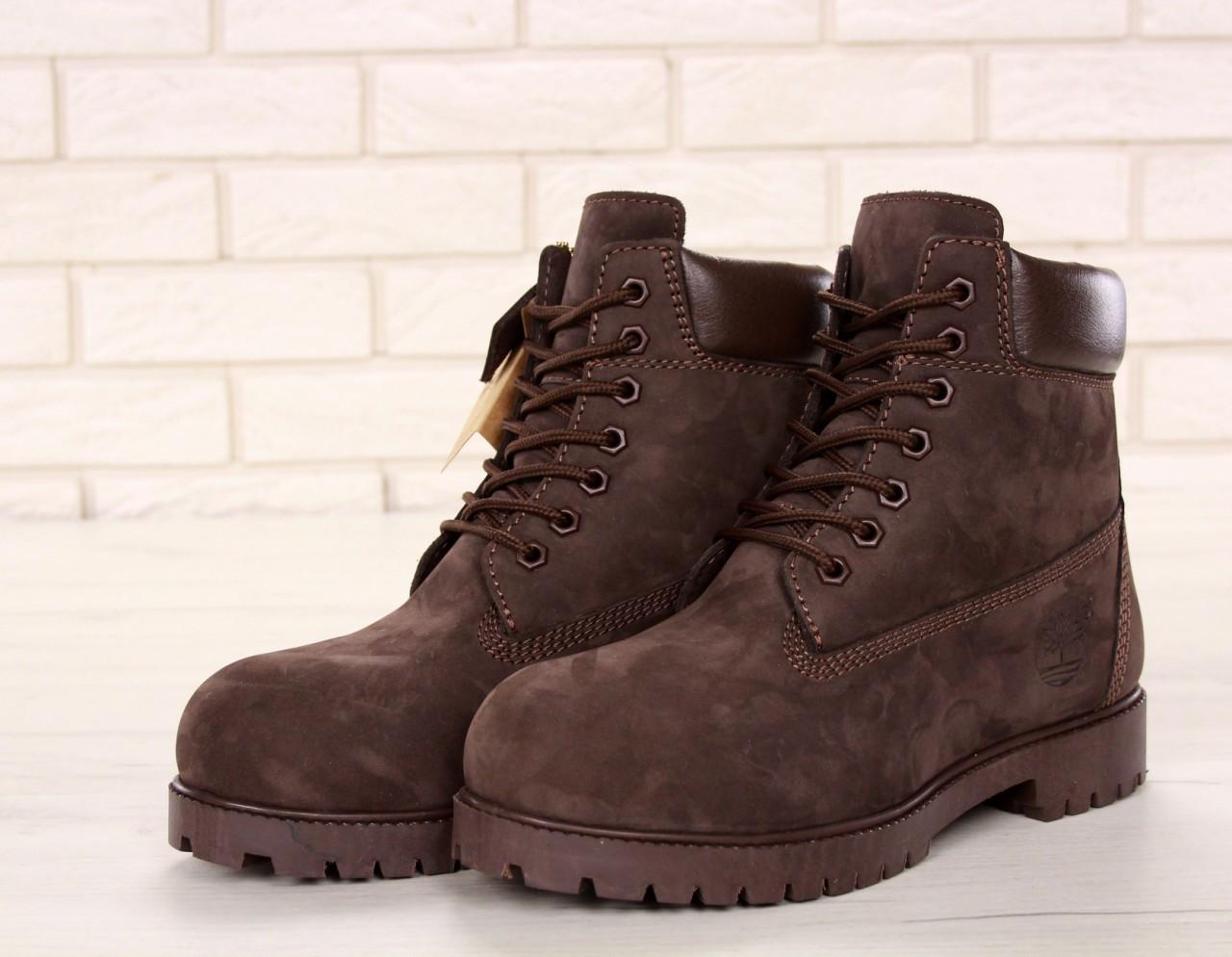 Зимние ботинки Timberland olive dark, мужские ботинки с искусственным мехом. ТОП Реплика ААА класса.