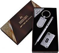 """Подарочный набор 3в1 """"Moongrass"""", зажигалка,брелок,ручка"""