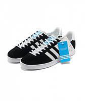 Женские кроссовки Adidas Gazelle черные, фото 1