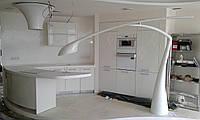 Кухня на заказ с крашенными фасадами от производителя