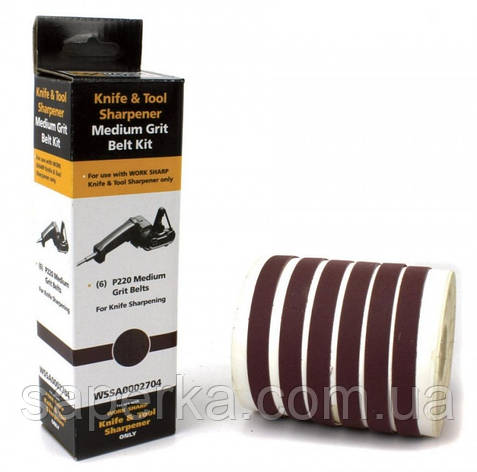 Запасные ленты WSKTS P220 Ceramic Oxide (6 лент) к точилке Darex Work Sharp, фото 2