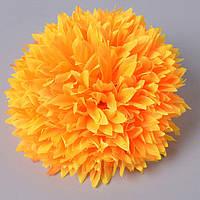 Хризантема головка желтая 13 см - искусственные цветы
