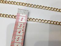 Ланцюжок декоративний металевий. Колір світле золото. ширина 5мм. 1 метр.
