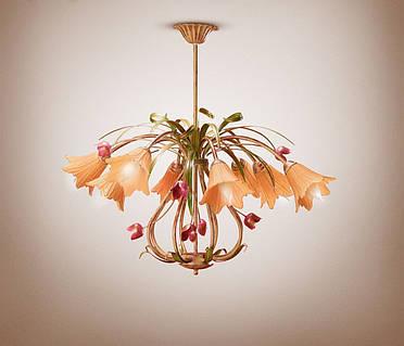 Люстра для большой комнаты в стиле флористика 4780