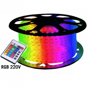 Светодиодная лента NED 5050-60 RGB 220В IP68, герметичная