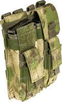 Подсумок Skif Tac для 2-х магазинов АК/AR, 2-х пистолетных, камуфляж
