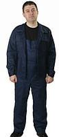 Полукомбинезон рабочий с курткой , ткань Дефенса, темно-синий