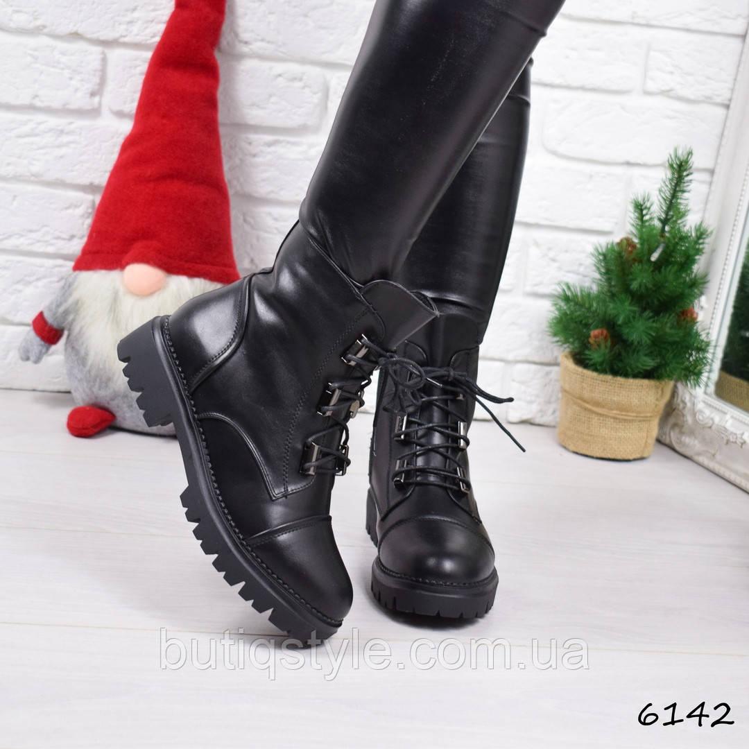 36 размер! Ботинкизимние Brut черныеэкокожа