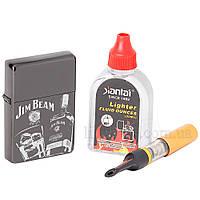 Зажигалка с лазерной гравировкой в подарочном боксе с мундштуком и бензином прекрасная 644700, фото 1