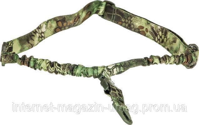 Ремень ружейный Skif Tac тактический одноточечный эластичный, криптек зеленый