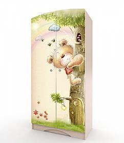 Шкаф платяной «Мишка с букетом» Венге светлый (ТМ Вальтер)