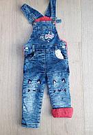 """Комбинезон детский джинсовый на травке на девочку 2-4 года Серии """"MARI"""" купить оптом в Одессе на 7км"""