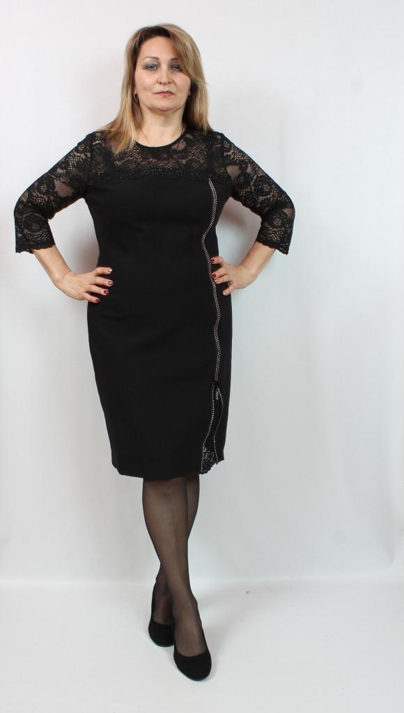 4a151675e5d3573 Черное Вечернее Платье с Кружевом — в Категории