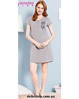 Ночная рубашка для беременных и кормящих Vienetta (712304 серый меланж) b021fbb1333