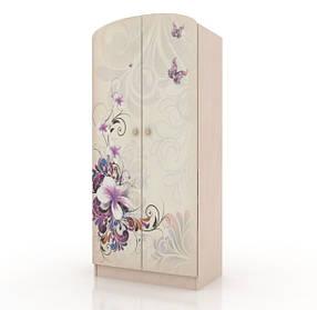 Шкаф платяной «Бабочки» Венге светлый (ТМ Вальтер)