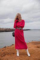 Теплое женское платье 2. Размер универсал 42-46. Цвет  красный