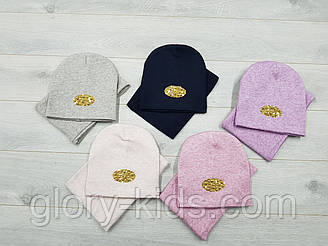 Зимний комплект шапка и хомут на флисе р50-54