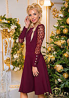 Нарядне жіноче плаття з гіпюровими рукавами.Р-ри 42-50 3c3e105a97ffd