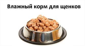 Влажный корм и консервы для щенков
