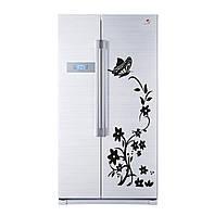 """Наклейка на холодильник """"Цветок черный"""" 140*50см"""