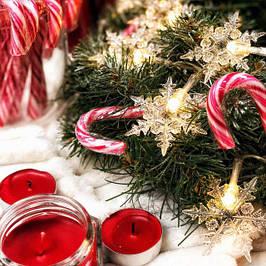 Новогодние гирлянды на елку и украшения