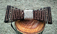 Деревянная бабочка галстук Дорожка ручной работы, серия Flexion, фото 1