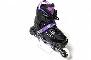 Раздвижные роликовые коньки Power Kings - Фиолетовые 29-33 р., фото 2