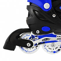 Раздвижные роликовые коньки Scale Sport - Синие 39-42 р. (rls11-3), фото 2