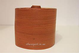 Обтяжка для каблука, кожа, 10 см, цв. рыжая