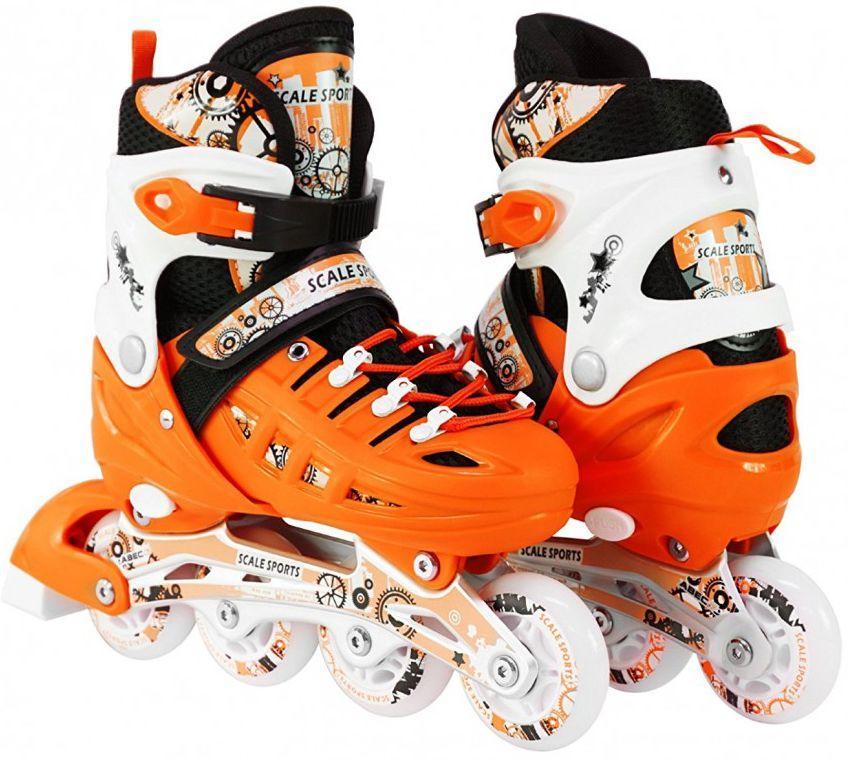 Ролики для детей 31-34, 35-38 р. Scale Sport - Оранжевые