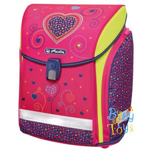 Ранец школьный ортопедический Herlitz MIDI Pink Hearts
