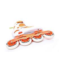 Раздвижные ролики Tempish Vestax (фитнес/беговые) оранжевые 39-42р., фото 2