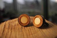 Деревянные запонки № 4 ручной работы