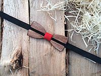 Деревянная бабочка галстук флоуресцентная ручной работы Модель №3, фото 1