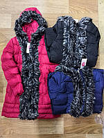 Куртка утепленная для девочек оптом, Glo-story, 134/140-170 см,  № GMA-4439, фото 1