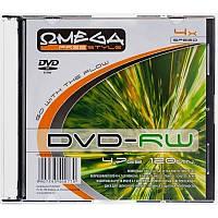 Диск 1 шт. DVD+RW 4.7Gb + конверт Omega box 200