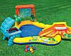 """Детский игровой надувной центр """" Динозавры"""" с горкой, фонтаном и  шариками ., фото 2"""