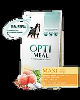 Optimeal сухой корм для собак крупных пород с курицей 12КГ