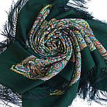 Горожанка 1836-9, павлопосадский платок шерстяной  с шелковой бахромой, фото 5